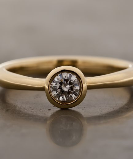 0.25ct Round Cut Diamond K18 Gold Ring [Limited]