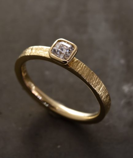 0.3ct PrincessCut Diamond K18 Gold Ring [Limited]
