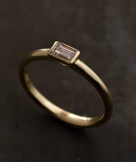 0.20ct Baguette Cut Diamond K18 Gold Ring [Limited]