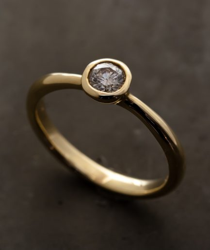 0.25ct Round Cut Diamond K18 Gold Ring [Limited]
